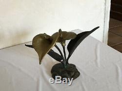 # Belle Sculpture Art Deco Bronze Floral Citrus