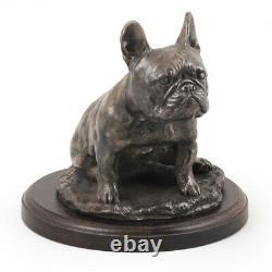 Bouledogue Français Séance, Statue De Chien, Limited Edition Art Dog En