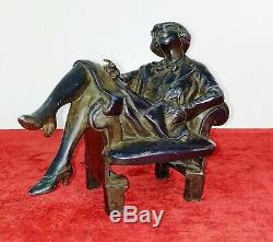 Boyish. Sculpture. Metal Finish Bronze. France. Art Deco. Circa 1920