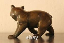 Bronze Animal Irenese Rochard (1906-1984) Bear Marchant Art Deco Bear