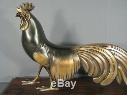 Bronze Art Deco Coq De Bruyere Sculpture Old Animalière