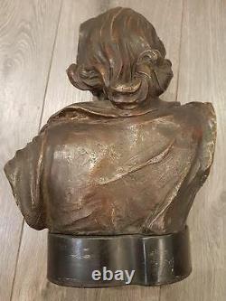 Bronze Bust 'la Forez', By Madrassi Art Nouveau C. 1910