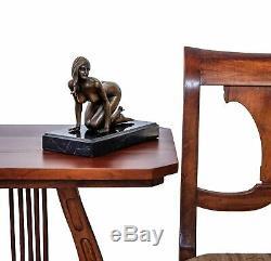 Bronze Erotic Woman Art Ancient Sculpture Figurine 21cm