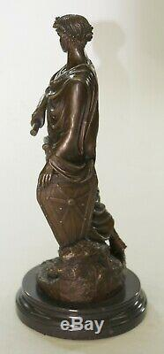 Bronze Julius Caesar Roman Military Bust Sculpture Art Warrior Figurine Large