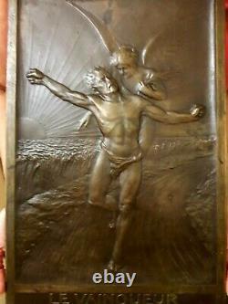 Bronze Medal Plate The Women's Winner M Konnert French Art New