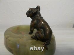 Bronze Sculpture 1920 Art Deco Signed Dog Ballogue French Empty Pocket