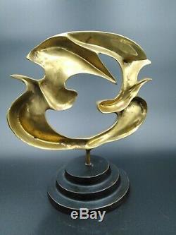 Bronze Sculpture Allegorical Modern Birds Braque In Art Deco Taste