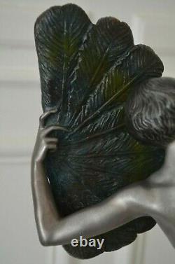 Bronze Sculpture Art Deco Dancer Desire Grisard To The Range