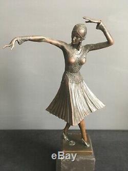 Bronze Sculpture Art Deco Demetre Chiparus Russian Dancer