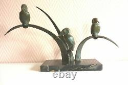 Bronze Sculpture Art Deco Group Kingfishers. Ref 179/4