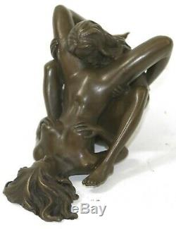 Bronze Sculpture Art Deco Modern Home Decor Female Erotic Lesbian Lovers