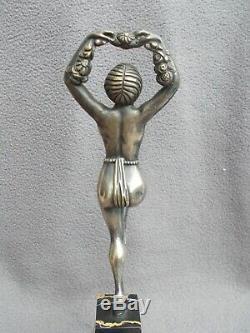 Bronze Sculpture Art Deco Statuette 30s Female Nude Statue Nude Dancer Dancer