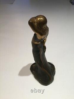 Bronze Sculpture Art Nouveau H. S Ringi Harald Sorensen Women's Design 1920