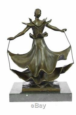Bronze Sculpture Collection Rare Dali Museum Dalinian Dancer Art Deco
