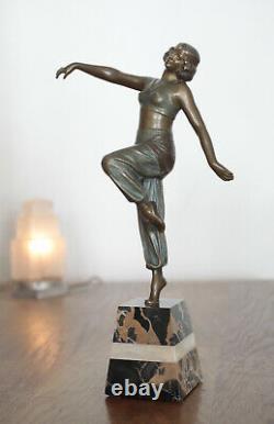 Bronze Sculpture Dancer Art Nouveau / Art Deco Signed Charles Muller