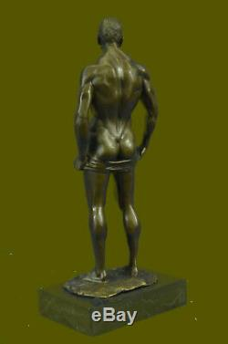 Bronze Sculpture, Hand Made Art Collector Edition Statue Gay Male Flesh