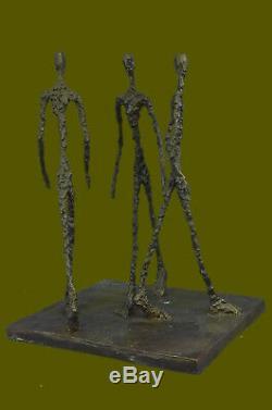 Bronze Sculpture Modern Art Abstract Figurine Home Office Decor Warm