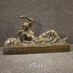 Bronze Sculpture Old Statue Style Naked Woman Art 900