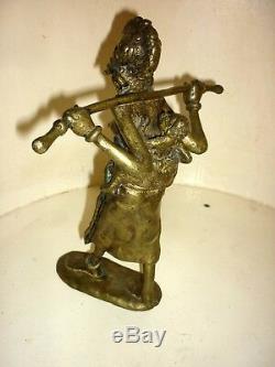 Bronze Sculpture Statue Burkina Faso Dumé Morou Signed H25cm African Art
