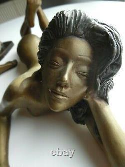 Bronze Sculpture Trio Theme Art Deco Erotic Art 20th