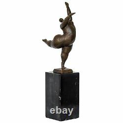 Bronze Woman Erotica Art Antique Sculpture Figurine 33cm