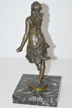 Bronze Women's Bronze Statuette Bronze Art New Pattern Signed A. R. Philippe 1900