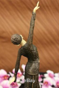 Chiparus Belly Dancer Bronze Marble Sculpture Figurine Statue Iron Art Gift