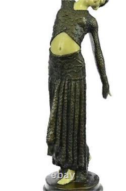 Chiparus Ventre Bronze Dancer Marble Sculpture Statue Hot Figure Art Deco