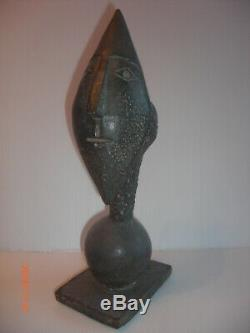 Clown Head Bronze Art Deco 1930 Bronze Sculpture Signed Beautiful Massive