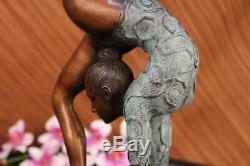 Collector Edition Sol Child Gymnast Bronze Sculpture Art Deco Sports Lrg