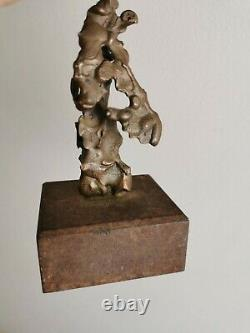 Contemporary Art Abstract Sculpture Bronze Brown Patina Abstract Dlg Giacometti