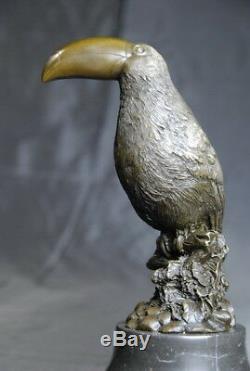 Contemporary Art Wildlife, Toucan Sculpture, Bronze Signed Milo
