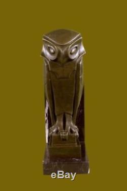 Cubism Sculpture Bird Dali Tribute Art Base In Modern Marble Deco T