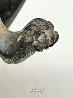 Cubist Sculpture In Bronze Panther / Pumas Art Deco. (lion, Leopard, Tiger.)