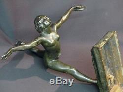 D 1930 Beautiful Bronze Sculpture Botinelly 37cm3.4kg Susse Dancer Paris Art Deco