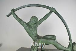 D H Chiparus, Bronze Age, Great Signed Sculpture, Art Deco, 20th Century