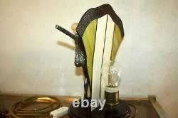D. H. Chiparus Danseuse Lampe Bronze Art Deco Beautiful Sculpture Demetre Dimitri