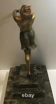 Dancer Art Deco Bronze