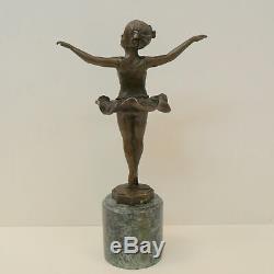 Dancer Statue Sculpture Art Deco Style Art Nouveau Bronze Massive Sign