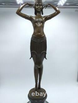 Demeter Chiparus Dancer Scarabée Egyptian 75 CM Bronze Style Art Deco