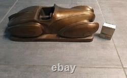 Design Drive Modernist Bronze Sculpture Art Deco Packard Aquarius 1934