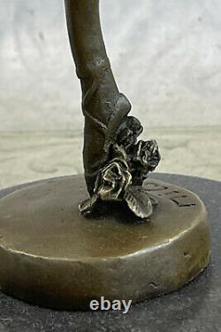 Detail Prima Ballerine Bronze Sculpture Art Style New Deco Figure