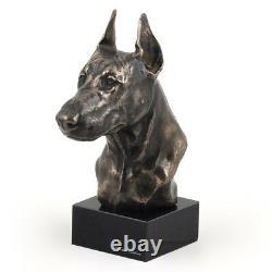 Dobermann Cut, Miniature Statue / Dog Bust, Limited Edition, Art Dog En