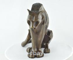 Dragon Statue Sculpture Animal Style Art Deco Bronze Massive Sign