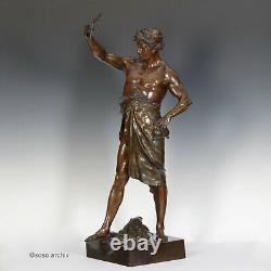 É. L. Picault Glorie And Fortune Bronze Sculpture 1900 True Paris Art Nouveau