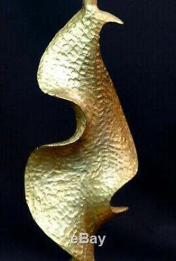 E Lamp Stand Contemporary Art Design De Waël Fondica Gilt Bronze 34cm3kg Deco