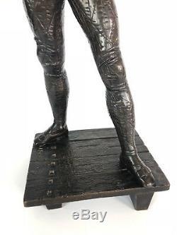 Emile Laporte Bronze Sculpture Harlequin Comedy Del Arte 54cm H