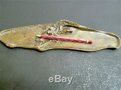 Feather Pen Tray Holder Art Nouveau Eagle Signed A. Marionnet 1900 Jugendstil French
