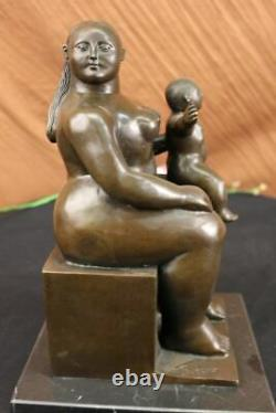Fernando Botero Mother And Child Bronze Art Sculpture Signed, Collector Balance