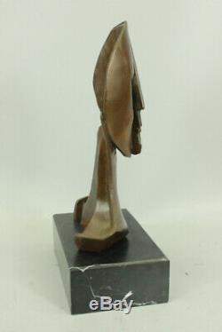 Figurine Bronze Statue Art Deco Modern Faces By Picasso Marble Lrg